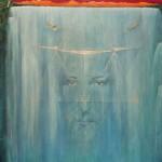 Jesus im Wasserfall